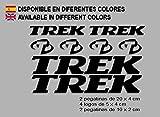 Ecoshirt 64-CMEO-A7G9 Autocollants Trek F127 Vinyle Adhésifs Decal Aufkleber Étiquettes VTT Stickers Bike Noir
