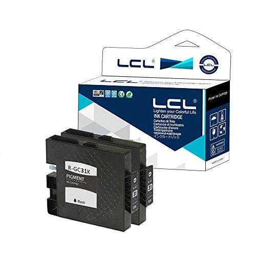 LCL 2-Pack Noir GC-31 GC31 GC31K Cartouche d'encre Compatible pour RICOH GX-e7700/e5500/e3300/e2600