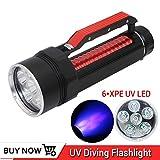 Professionelle UV-Licht 6 XPE LED Hohe Qualität UV-Tauchen Flashlgiht 395nm Led UV-Licht...