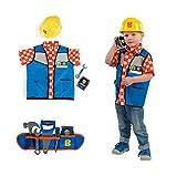 Ideal Smoby Bob der Baumeister Set Werkzeuggürtel mit Handwerker Outfit Werkzeug Helm
