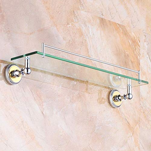 Eitelkeit Caddy (JJJJD Bad glasregal, Kupfer Regal, Badezimmer, Glas, eitelkeit, Bad Regal, kosmetische Halterung (Size : 55cm/21.6inch))
