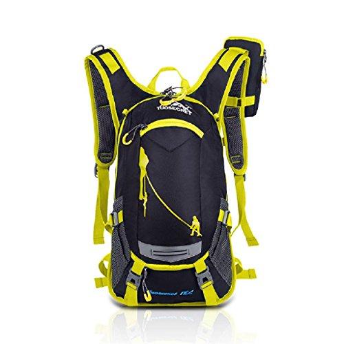 Loveso-Wanderrucksäcke 20L Trink Fahrrad Radfahren Rucksack Rucksack-Pack Helm-Wasser-Blasen-Beutel-Klettern (Orange) Gelb