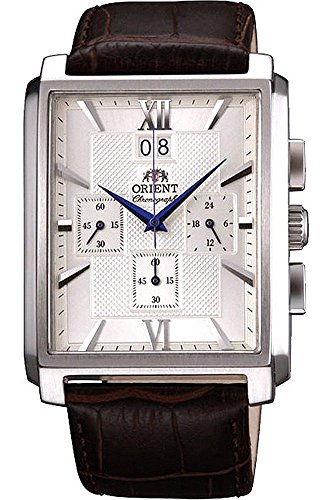 Orient Men's Chronograph Quartz Watch with Leather Strap FTVAA004S0
