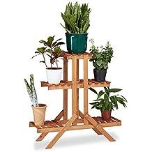 Escabeau bois for Support pour plantes exterieur