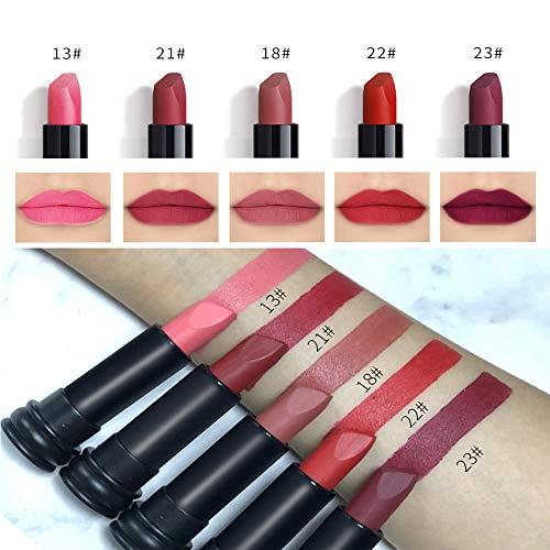 Lipstick Lipstick TAOtTAO 5 STÜCKE Neue Mode Wasserdichte Matte Lippenstift Kosmetische Sexy...
