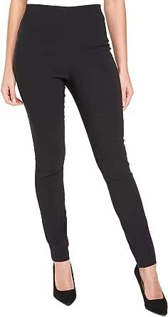 Roman Originals - Pantaloni elasticizzati da donna dritti Bengalin, vita elasticizzata, casual, serata e ufficio, eleganti, lunghezza intera