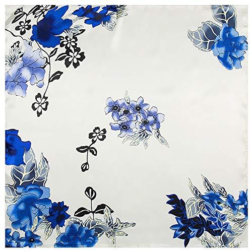 Collection-schal Aus Seide (AHUIOPL Imitierte Seide 60Cm * 60Cm Collection Imitierte Seidenschals Koreanische Windblumen Kleine Quadratische Seidenschal Frauen Royal Schals)