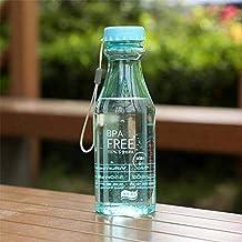 Lomire Botella del Agua 550ml Sin BPA, Cantimplora Portátil Reutilizable de Plástico para Deportes Ciclismo