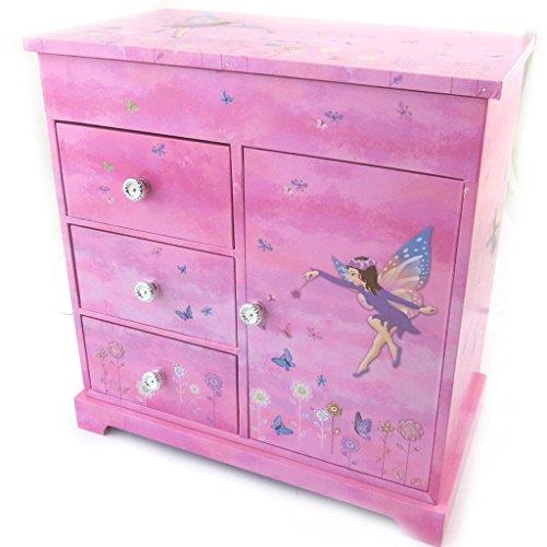 Les Trésors De Lily N5282 - Coffret à Bijoux 'Fairy Dreams' rose violet (Musical) - 23x22.5x12.5 cm