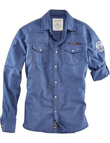 ROADSIGN australia Karo Langarm Hemd Adelaide Hills Blau