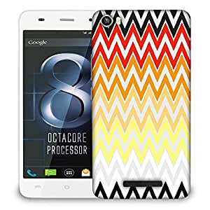 Snoogg rainbow shades pattern 2575 Designer Protective Back Case Cover For LAVA IRIS X8