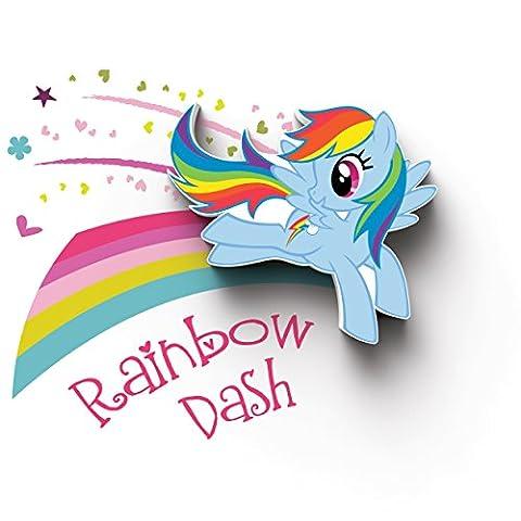 Mon petit poney Mini 3D LED applique murale-Rainbow Dash