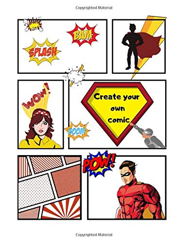CREATE YOUR OWN COMIC Blank Comic Book 100 Pgs 85 X 11 Inches