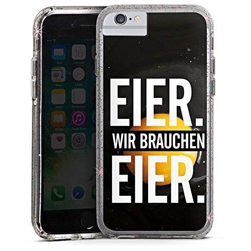 Apple iPhone 6s Bumper Hülle Bumper Case Glitzer Hülle Eier Humor Sprüche Bumper Case Glitzer rose gold