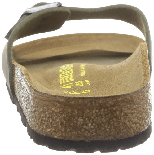 Birkenstock Madrid, Mules Vert (Nubuck Marron Brushed Emerald)