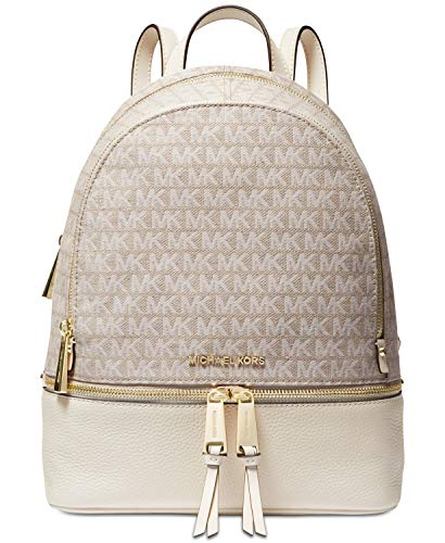 MICHAEL Michael Kors Rhea Zip Medium Backpack (Natural/Cream)