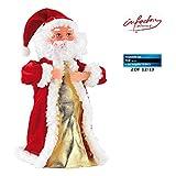 """infactory Weihnachtsartikel: Singender, tanzender Weihnachtsmann """"Swinging Santa"""", 28 cm (Tanzender Weihnachtsmann mit Musik)"""