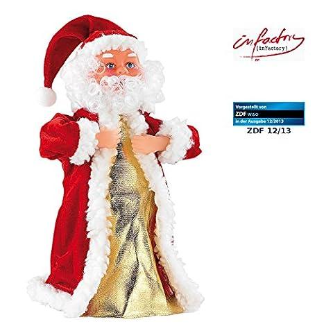 infactory Weihnachtsartikel: Singender, tanzender Weihnachtsmann