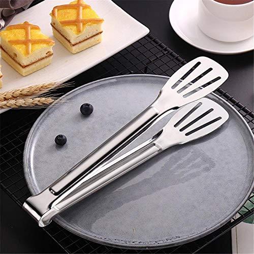 stück Edelstahl Lebensmittel Tong Küchenutensilien Buffet Hitzebeständigkeit Brot Clip Kochwerkzeug Gebäck Clamp Grillzange, A ()