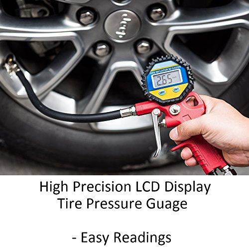 MICTUNING-Digitale-Manometro-Pressione-Pneumatici-LCD-Screen-Retroilluminato-with-Lock-On-Nozzle-Digital-Tire-Pressure-Inflator-Gauge-for-Car-Bike-Motorcycle-Ball-more