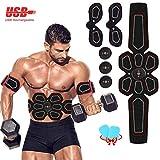 ZunBo Electroestimulador Muscular Abdominales Cinturón,Masajeador Eléctrico Cinturón con USB,Abdomen/Brazo/Piernas/Cintura Entrenador(Hombre/Mujer),6 Modos de Simulación,10 Niveles Diferentes para
