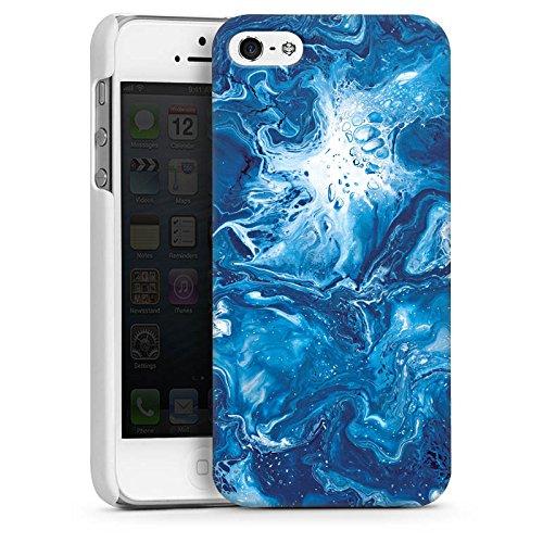 Apple iPhone 4 Housse Étui Silicone Coque Protection Marbre Motif Motif CasDur blanc