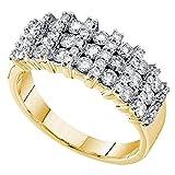 Damen Ring / Verlobungsring 1.00 Karat 14 Karat Gelbgold 1 Karat