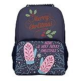 Lind88 Weihnachts-Rucksack, legerer leichter Schulrucksack, Handschuhe, Muster, Unisex, Anzug für Erwachsene, für 39,1 cm (15,4 Zoll) Computer Einheitsgröße weiß