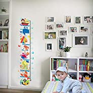 DIY Removable Wall Stickers For Children room Home Decor -Marine fishes Measuring height