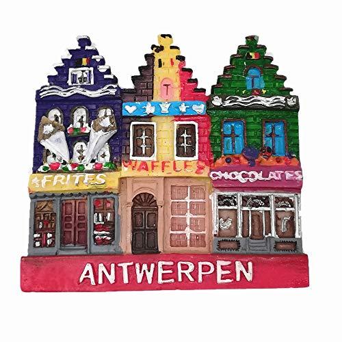 MUYU Magnet 3D Antwerp Belgien Kühlschrankmagnet, Home & Kitchen Dekoration, magnetischer Aufkleber Antwerp Belgien Souvenir Kühlschrankmagnet Reise Souvenir Geschenksammlung