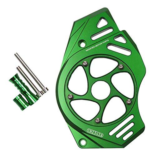 Preisvergleich Produktbild non-brand Sharplace 1 Set Kettenblattschutz Vorne Kettenschutzabdeckung Motorräder,  Ersatzteile Für Kawasaki Er6n - Grün