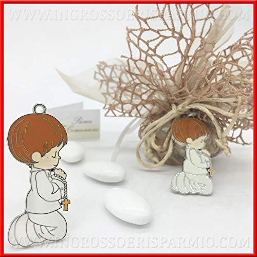 Ingrosso e risparmio 12 ciondoli in metallo a forma di bambino in preghiera per decorare bomboniere fai da te applicazioni comunione (senza confezionamento)