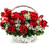 Florazone Love at First Sight Basket of Red Roses