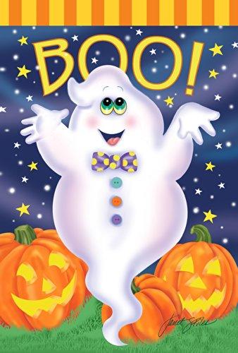Toland Home Garden Boo Ghost 71,1 x 101,6 cm Dekorative Bunte Halloween Jack-o-Lantern Kürbis Stern Haus Flagge