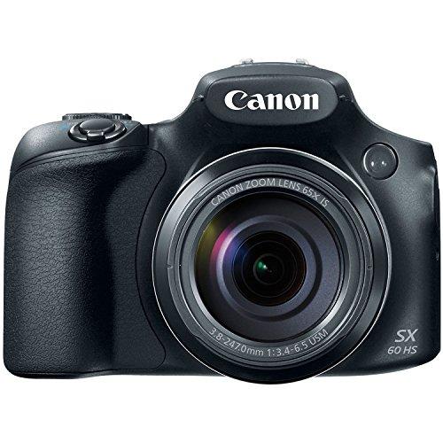 Canon PowerShot SX60-HS 16.1MP Advanced Digital Camera (Black) with 65x Optical Zoom