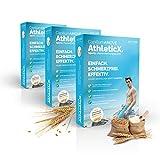 Vorratspaket 3x300g Capillum AMOVE Wheat AthleticX GERUCHLOS | STOPPT Haarwuchs | EXTRA weiche Haut ohne Rasur-Reizungen | Dusch Haarentfernungs Pulver/Enthaarungscreme | DERMATEST: