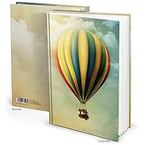 xxl besonders hochwertig notizbuch din a4 ballon fliegen din a4 vintage nostalgie 148 leere. Black Bedroom Furniture Sets. Home Design Ideas