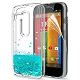 LeYi Funda Motorola Moto G Silicona Purpurina Carcasa con HD Protectores de Pantalla,Transparente...