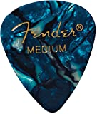 Fender 351 Classic Celluloid Picks 12-Pack (Ocean Turq) Medium- Lot de 12 médiators