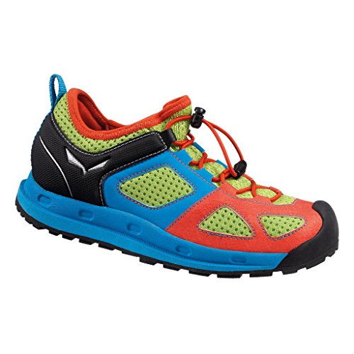 Salewa Jr Swift, Chaussures de Fitness mixte enfant Multicolore - Mehrfarbig (5315 Cactus/Red)