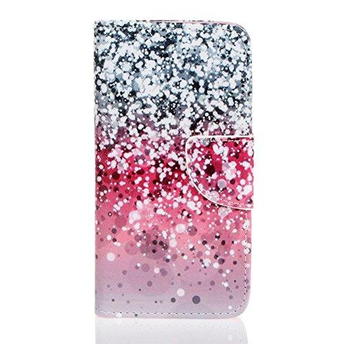 LG G5 Hülle, Chreey Gemalt Muster Schutzhülle Lederhülle Magnetische Schnalle Premium PU Leder Flip Cover Brieftasche Kreditkarte Taschen Etui Handyhülle Schutztasche [Sternenklarer Himmel]