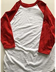 Russell Athletic 3/4Sleeve Béisbol Jersey–White/Red–Small
