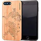 GOWOOD Coque iPhone 7 Plus et 8 Plus en Bois | Coque en Bois de Bambou avec Gravure...