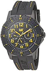 CAT WATCHES Men's 'PV1 Multi' Quartz Stainless Steel and Rubber Casual, Color:Black (Model: PV16921117)