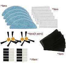 2 pares de cepillo lateral +5 Filtro HEPA +5 esponja +5 paño mojado