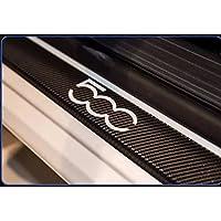 Fiat 500L 500X Abarth Door Sill Carbon Fiber 3D Limited Protector Vinilo Adhesivo