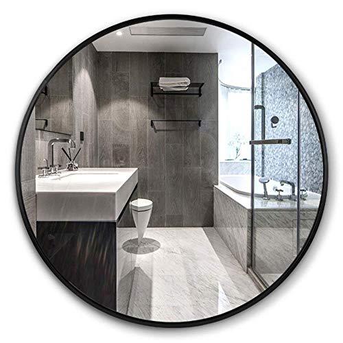 NYDZDM Espejos Moderno de Pared Redondo Espejo, Accesorios de baño, Marco de Aluminio...
