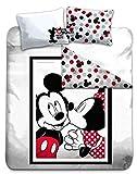 Gamesland Disney – Bettwäsche 240 x 220 – Mickey & Minnie '100% Baumwolle