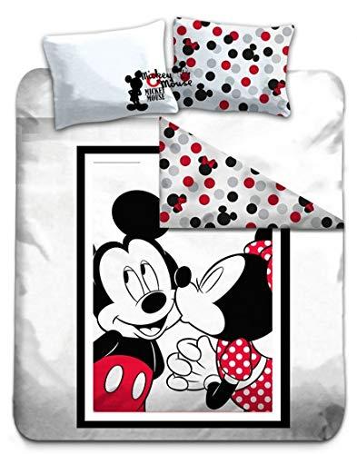Juego Cama Doble Minnie & Mickey 100% Algodón –