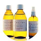 PureSilverH2O - 600ml Kolloidales Silber (2x 250ml/25ppm) + Spray (100ml/50ppm) Reinheit & Qualität seit 2012